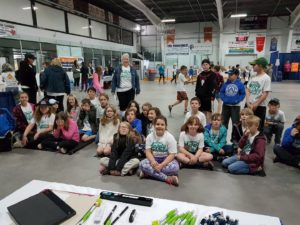 Grades 4 and 5 students at WorkSafeNB Safety Week